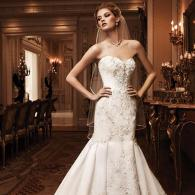 Elegant White Wedding Gown With Long Train